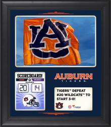 Auburn Tigers 2014 Win over Kansas State Wildcats 15'' x 17'' Framed Collage