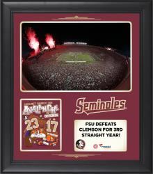 FSU Seminoles 2014 Win Over the Clemson Tigers 15'' x 17'' Framed Collage