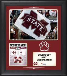Mississippi State Bulldogs 2014 Win Over #6 Texas A&M Aggies 15 x 17'' Framed Collage