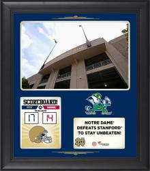Notre Dame Fighting Irish 2014 Win over #14 Stanford Cardinals 15'' x 17'' Framed Collage