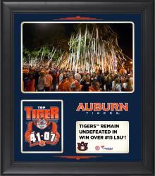 Auburn Tigers 2014 Win over #15 LSU Tigers 15'' x 17'' Framed Collage