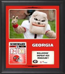 Georgia Bulldogs 2014 Win over #23 Missouri Tigers 15'' x 17'' Framed Collage