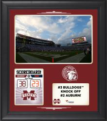 Mississippi State Bulldogs 2014 Win over #2 Auburn Tigers 15'' x 17'' Framed Collage