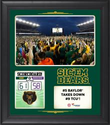 Baylor Bears 2014 Win Over #9 TCU Horned Frogs 15'' x 17'' Framed Collage