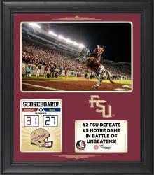 "Florida State Seminoles (FSU) 2014 Win Over Notre Dame Fighting Irish Framed 15"" x 17"" Collage"