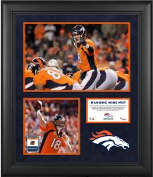 Peyton Manning Denver Broncos 2013 NFL MVP  Framed 5-Photograph 20'' x 24'' Collage with Game-Used Ball - Mounted Memories