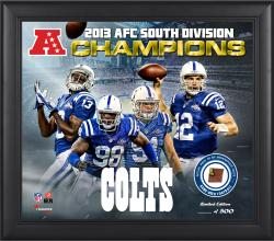 Indianapolis Colts 2013 AFC South Champs Framed 15'' x  17'' Collage with Game-Used Football - Limited Edition of 500 - Mounted Memories
