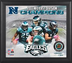 Philadelphia Eagles 2013 NFC East Champs Framed 15'' x  17'' Collage with Game-Used Football - Limited Edition of 500 - Mounted Memories