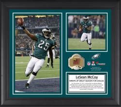 LeSean McCoy Philadelphia Eagles Single-Season Franchise Rushing & Yards from Scrimmage Record Framed 15'' x  17'' Collage with Game-Used Football - Limited Edition of 500 - Mounted Memories
