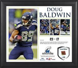 "Doug Baldwin Seattle Seahawks 2013 NFC Champions Framed 15"" x 17"" Collage-Limited Edition of 500"