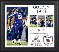 Golden Tate Seattle Seahawks 2013 NFC Champions Framed 15'' x 17'' Collage-Limited Edition of 500 - Mounted Memories