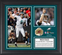Nick Foles Philadelphia Eagles 7 TDS Framed 15'' x  17'' Collage with Game-Used Ball - Limited Edition of 500 - Mounted Memories