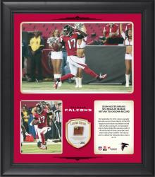 "Devin Hester Atlanta Falcons Sets NFL Regular Season Return Touchdown Record 15"" X 17"" Collage With Game-Used Football - Limited Edition of 250"