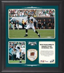 "Nick Foles Philadelphia Eagles  Throws for 325 Yards and 3 Touchdowns In Win Over the Washington Redskins 15"" X 17"" Collage With Game-Used Football - Limited Edition of 250"