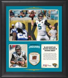 """Blake Bortles Jacksonville Jaguars Throws For 2 Touchdowns In Rookie Debut 15"""" X 17"""" Collage With Game-Used Football - Limited Edition of 250"""