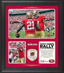 "San Francisco 49ers Rallied To Defeat The Previously Undefeated Philadelphia Eagles 26-21 15"" X 17"" Collage With Game-Used Football - Limited Edition of 250"