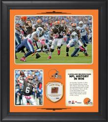 Cleveland Browns Comeback Win Is the Largest Regular Season By A Road Team In NFL History 15 X 17 Collage With Game Used Football