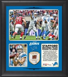 "Matthew Stafford Detroit Lions Becomes Franchise Passing Touchdown Leader In Win Over The Atlanta Falcons 15"" X 17"" Collage With Game-Used Football – Limited Edition of 250"