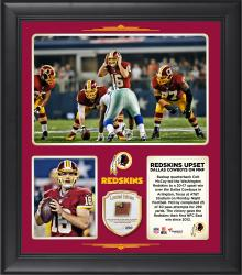 "Washington Redskins Led By Backup Quarterback Colt McCoy Upset The Dallas Cowboys In Overtime on Monday Night Football 15"" X 17"" Collage With Game-Used Football – Limited Edition of 250"
