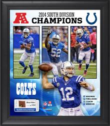 Indianapolis Colts 2014 AFC South Champs Framed 15'' x 17'' Collage with Game-Used Football - Limited Edition of 500