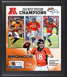 Denver Broncos 2014 AFC West Champs Framed 15'' x 17'' Collage with Game-Used Football - Limited Edition of 500
