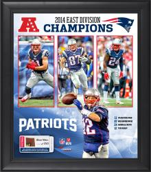 New England Patriots 2014 AFC East Champs Framed 15'' x 17'' Collage with Game-Used Football - Limited Edition of 500