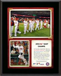"Washington Nationals 2014 National League East Champions Sublimated 10.5"" x 13"" Plaque"
