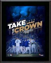 "Kansas City Royals Take the Crown 10.5"" x 13"" Sublimated Plaque"