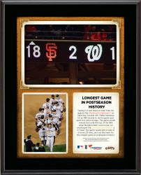 "San Francisco Giants Longest Game in Postseason History 10.5"" x 13"" Sublimated Plaque"