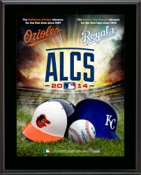 "Baltimore Orioles vs. Kansas City Royals 2014 ALCS Matchup 10.5"" x 13"" Sublimated Plaque"