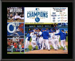 """Kansas City Royals 2014 American League Champions 10.5"""" x 13"""" Sublimated Plaque"""