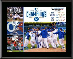 "Kansas City Royals 2014 American League Champions 10.5"" x 13"" Sublimated Plaque"