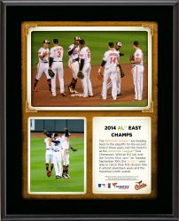 "Baltimore Orioles 2014 American1 League East Champions Sublimated 10.5"" x 13"" Plaque"