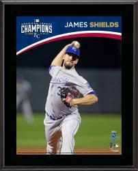 """James Shields Kansas City Royals 2014 American League Champions Sublimated 10.5"""" x 13"""" Plaque"""