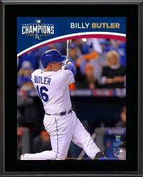 """Billy Butler Kansas City Royals 2014 American League Champions Sublimated 10.5"""" x 13"""" Plaque"""