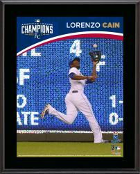 "Lorenzo Cain Kansas City Royals 2014 American League Champions Sublimated 10.5"" x 13"" Plaque"