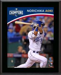 "Norichika Aoki Kansas City Royals 2014 American League Champions Sublimated 10.5"" x 13"" Plaque"