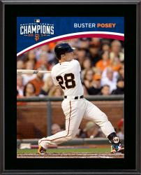 "Buster Posey San Francisco Giants 2014 National League Champions Sublimated 10.5"" x 13"" Plaque"