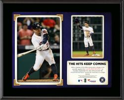 "Jose Altuve Houston Astros Single Season Hit Record Submlimated 10.5"" x 13"" Plaque"
