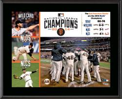 "San Francisco Giants 2014 National League Champions 10.5"" x 13"" Sublimated Plaque"