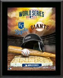 "Kansas City Royals vs. San Francisco Giants 2014 World Series Matchup 10.5"" x 13"" Sublimated Plaque"