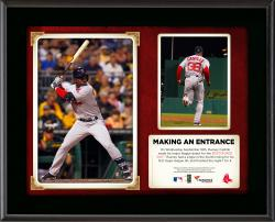 "Rusney Castillo Boston Red Sox MLB Debut Submlimated 10.5"" x 13"" Plaque"