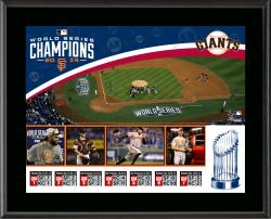 """San Francisco Giants 2014 World Series Champions 10.5"""" x 13"""" Sublimated Plaque"""