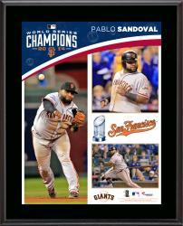 Pablo Sandoval San Francisco Giants 2014 World Series Champions 10.5'' x 13'' Sublimated Plaque