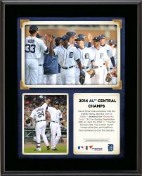 "Detroit Tigers 2014 American League Central Champions Sublimated 10.5"" x 13"" Plaque"
