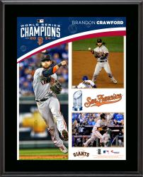 Brandon Crawford San Francisco Giants 2014 World Series Champions 10.5'' x 13'' Sublimated Plaque