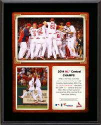 "St. Louis Cardinals 2014 National League Central Champions Sublimated 10.5"" x 13"" Plaque"