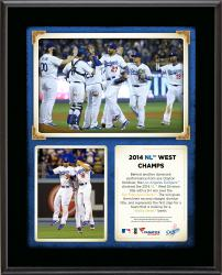 "Los Angeles Dodgers 2014 National League West Champions Sublimated 10.5"" x 13"" Plaque"