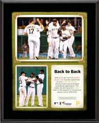 "Pittsburgh Pirates Back to Back Playoff Appearances Sublimated 10.5"" x 13"" Plaque"