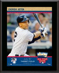 "Derek Jeter New York Yankees 2014 MLB All-Star Game Sublimated 10.5"" x 13"" Plaque"
